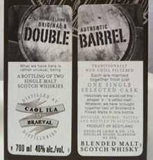 doubel barrel caol ila & braeval 10 jahre label